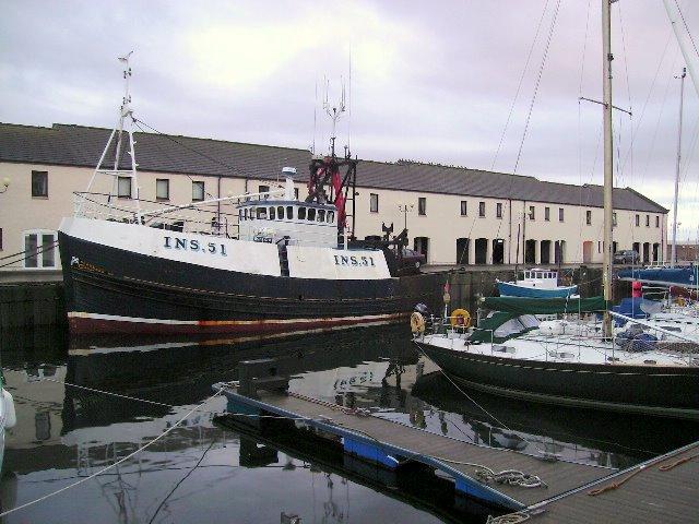 A Fishing Trawler at Lossiemouth