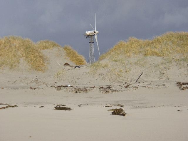 Wind turbine from the beach