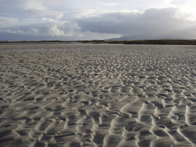 Exposed sand at An Corran