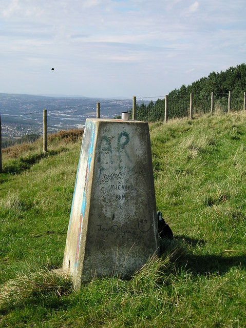 OS Trig Point above Skewen