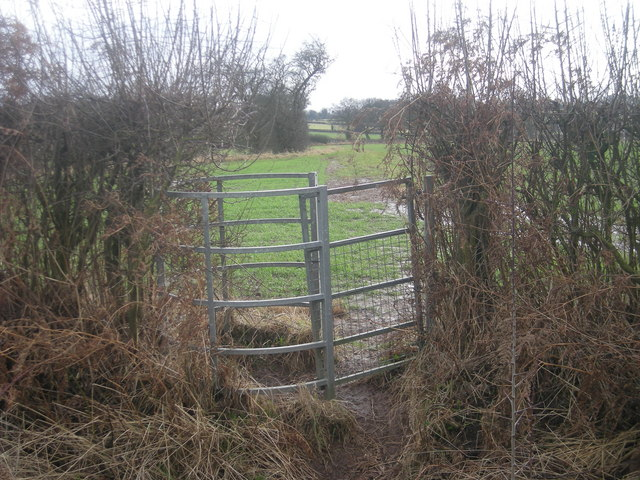 Kissing gate on the Shropshire Way