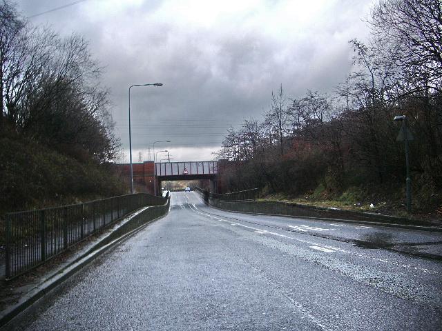Railway bridge over Bolton Avenue, Huncoat