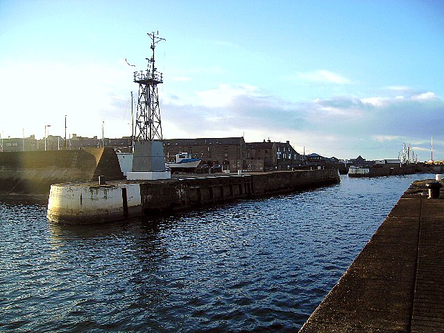 The entrance to The Harbour at Lossiemouth
