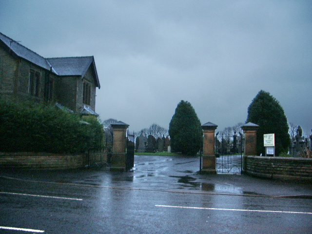 Entrance to Great Harwood Cemetery