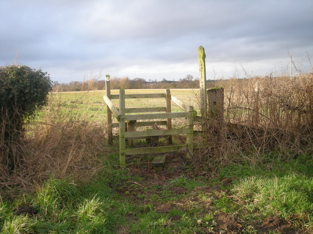 Stile near Fenemere Manor