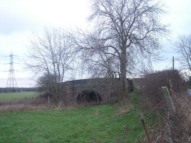 Railway bridge on the Shrewsbury to Chester line