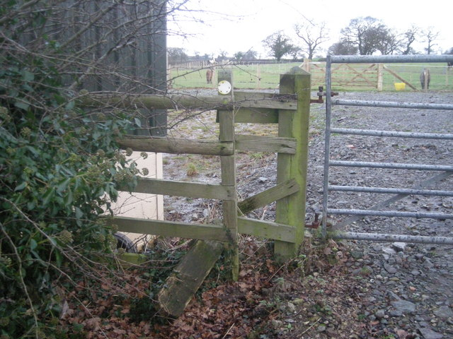Derelict stile on a Right of Way
