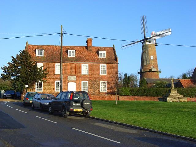 Cross Farmhouse and the windmill, Quainton