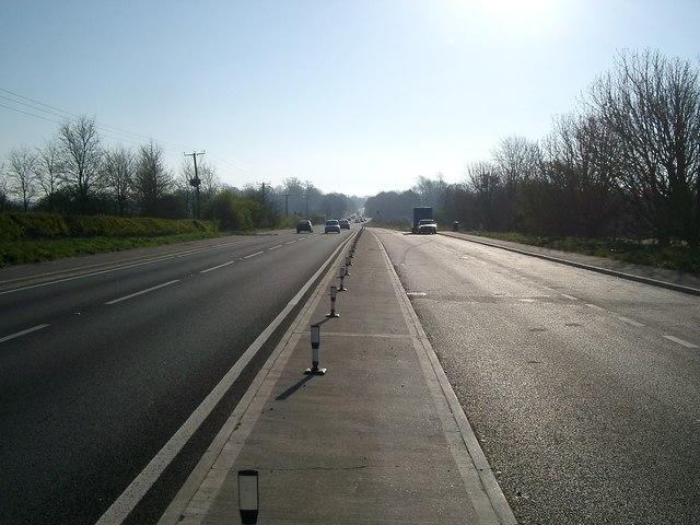 The A27 near Firle