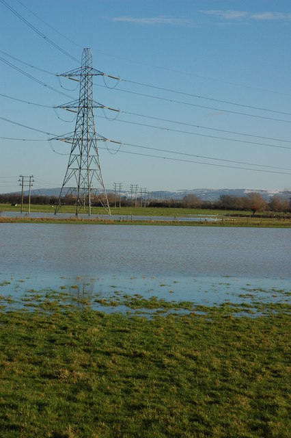 Flooded meadows at Twigworth