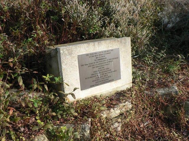 Coy Pond Gardens: rockery plaque