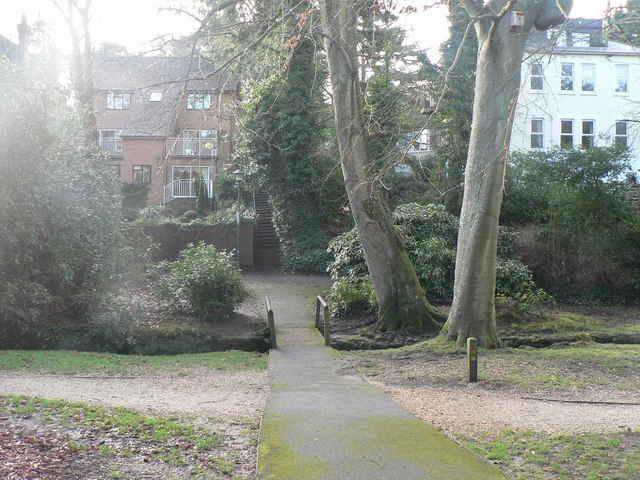 Bournemouth Gardens: steps to Surrey Road