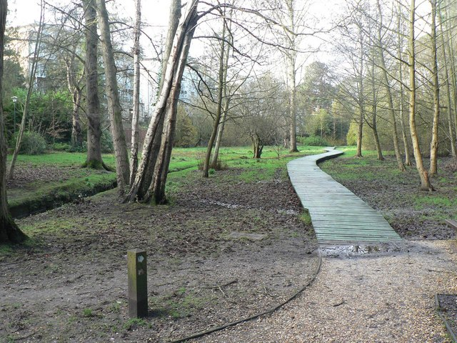 Bournemouth Gardens: start of elevated walkway