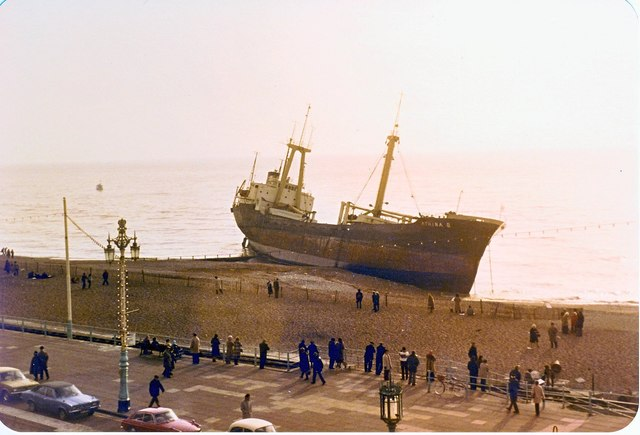 "The ""ATHINA B"" Brighton Beach."