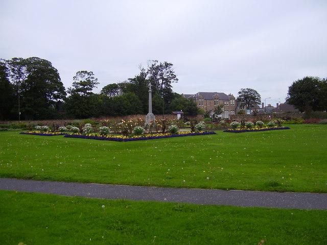 The Village Green Garden and War Memorial, Cockenzie, East Lothian, Scotland