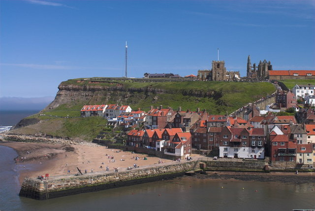 Whitby Harbour Entrance and Town