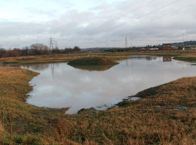 A man made pond