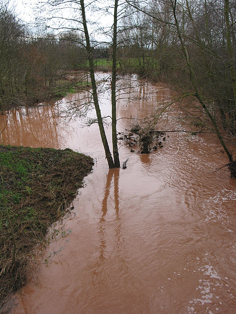 River Leadon after prolonged rain