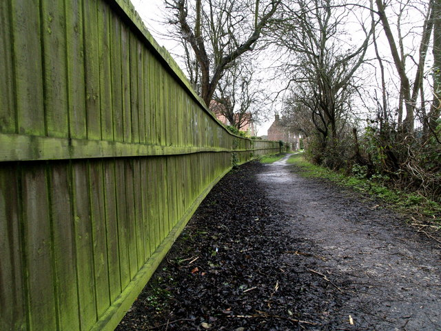 Love Lane Bridleway Green Fence