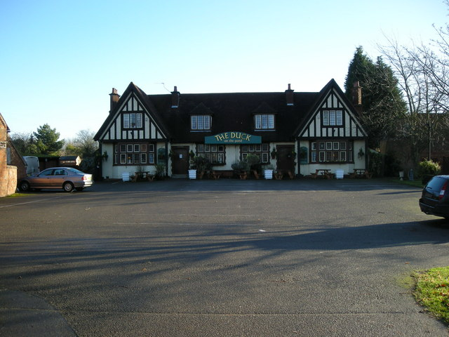 Long Itchington-The Duck on the Pond