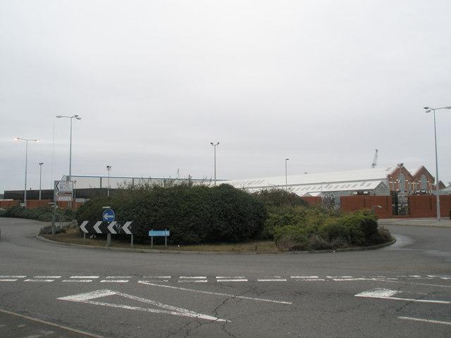 Roundabout approaching Portsmouth Dockyard