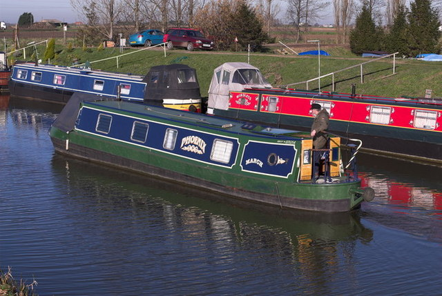 Phoenix Narrowboat on the River Nene (old course) March, Cambridgeshire