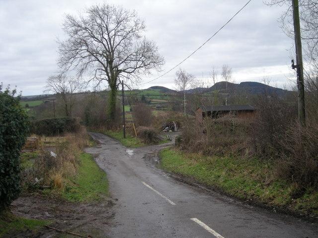 Lane south from Arscott