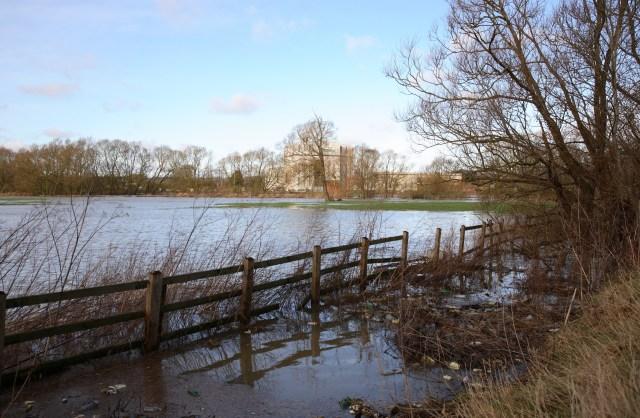 Flooded fields beside the River Avon
