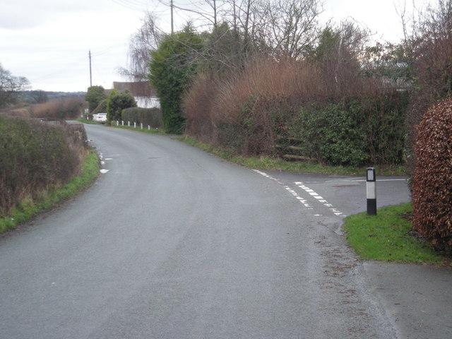 Junction near New House Farm