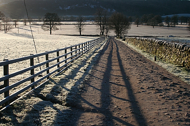 Access Road to Comrie Croft Hostel