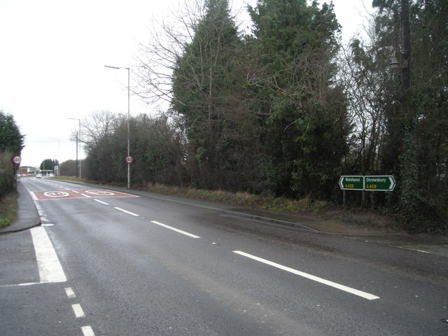 A458 westbound at Chavel