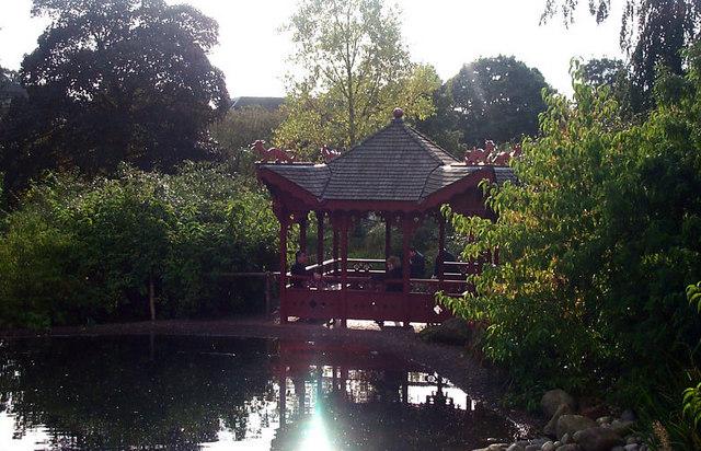 Chinese pagoda, Royal Botanic Gardens, Edinburgh