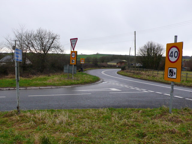 Road Junction at Roundham, Crewkerne, Somerset