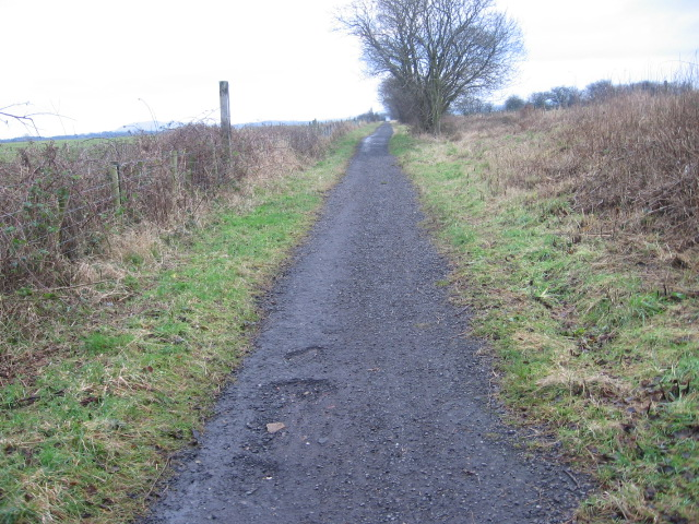 Cycle track on old railway approaching Scalby