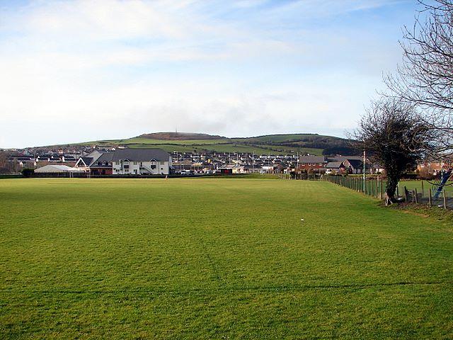 Playing field at Llanbadarn Fawr