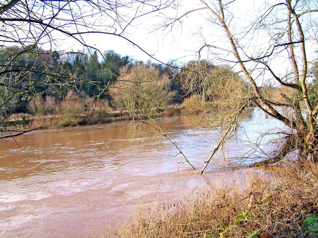 View across the River Severn with high water