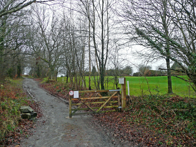 Footpath by the golf course