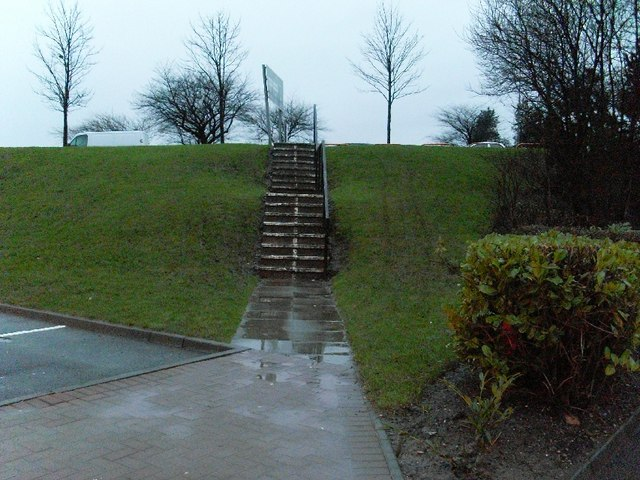 Stairs from Great Western Retail Park