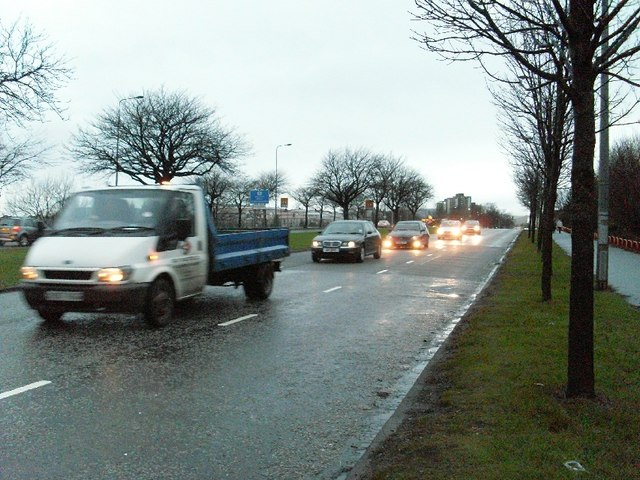 Rush hour traffic on Great Western Road