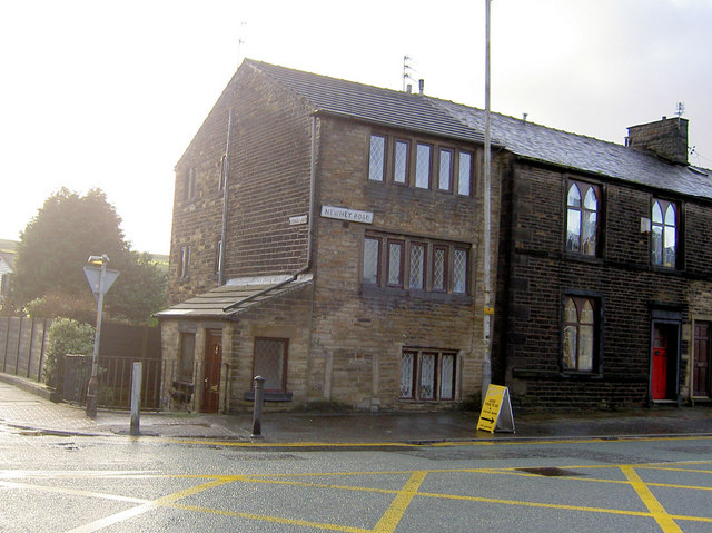 Pennine Terrace at the junction of Newhey Road and Cedar Lane