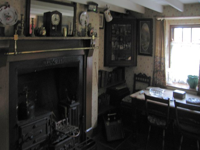 Interior of 1805 Valleys terraced house - National History Museum of Wales, St Fagans