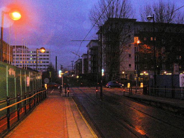 Exchange Quay light railway station Salford