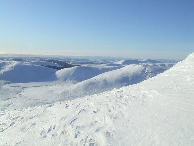 The view over Glen Prosen from Mayar