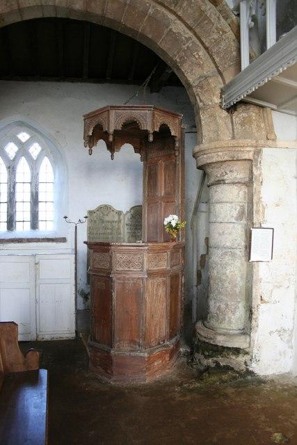 All Saints' pulpit