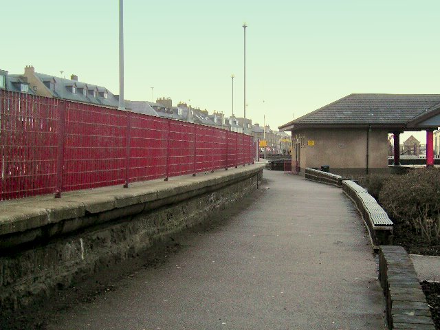 The former railway line at Lossiemouth