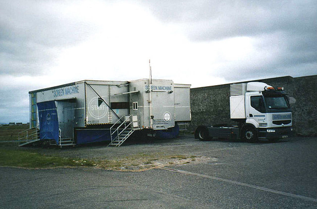 Mobile cinema at the Creagory Hotel