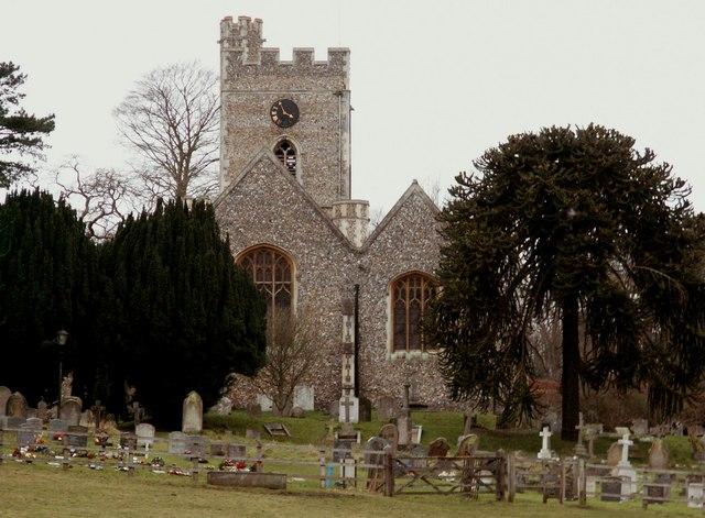 St. Andrew & St. Mary; the parish church of Watton-at-Stone