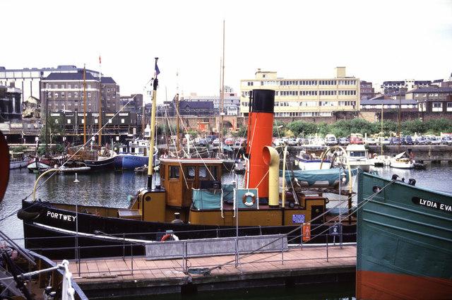 Steam tug Portwey, St Katharine Docks