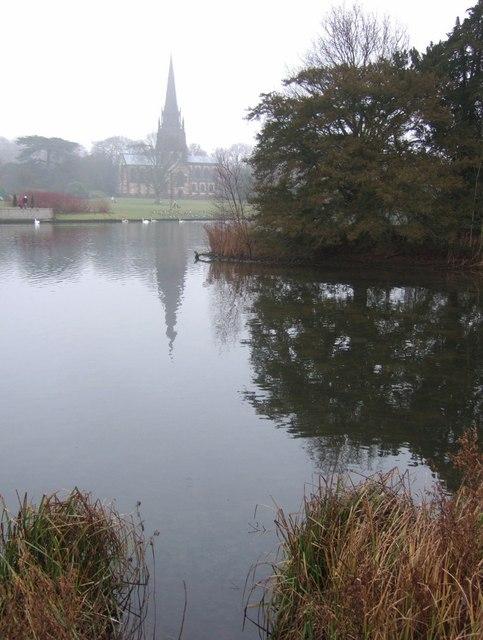 Island on Clumber lake