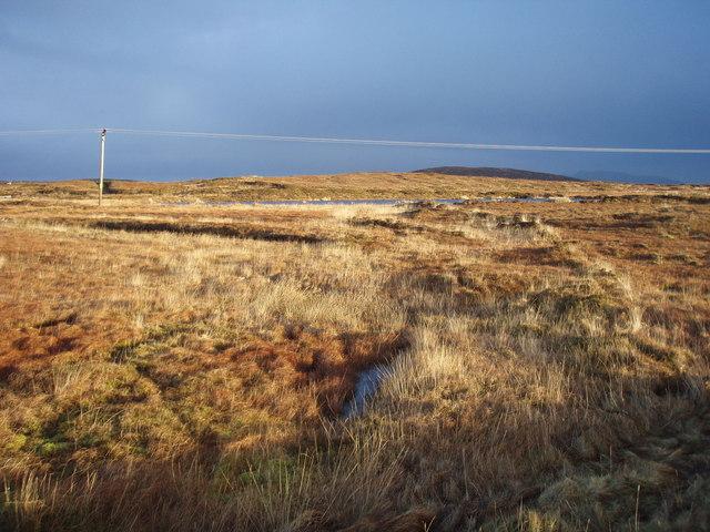 Dark skies over moorland